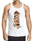 CottonCloud Sushi Tower Camiseta para Hombre T-Shirt Juego japonés, Talla:2XL, Color:Blanco