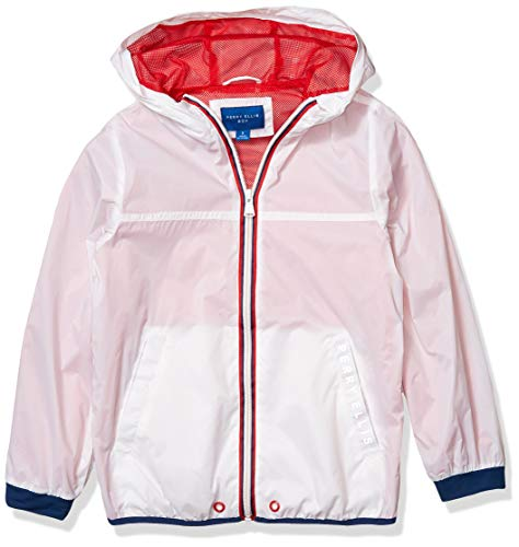 Perry Ellis Big Boys Popover Packable Jacket, Bright White, 14/16