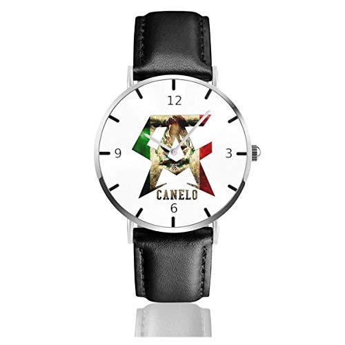 Men's Fashion Minimalist Wrist Watch Quartz Wrist Watch Canelo Alvarez Leather Strap...