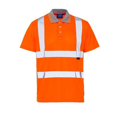 SuperTouch AEC1925 Hi VIS Vogeloog Polo Shirt Oranje