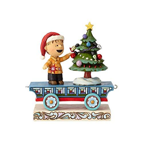 ENESCO Peanuts by Jim Shore Linus Auto-Figur, 12 cm, Mehrfarbig