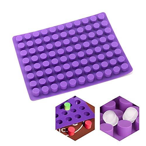 Ziyi 88 Cavidades Mini Redondo Mini Queso Tortas Moldes para Hornear Molde de Silicona para la trufa de Chocolate Jelly and Candy Hielo Molde