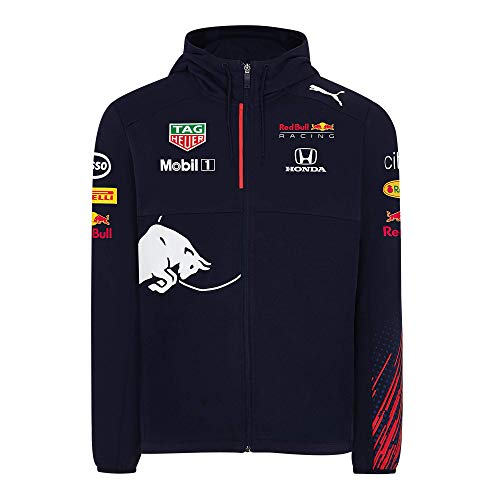 Red Bull Racing Official Teamline Zip Sudadera con Capucha, Hombres Sm