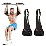 Legend Legacy Hanging Ab Straps - Pair, Abdominal Slings, Ab Swing, Pull Up Bar Accessory for Leg Raise & Weight Lifting with Heavy Duty Carabiners and Rip Resistant Arm Support for Men & Women