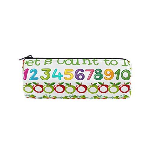 Zylinder-Federmäppchen, rund, Stifttasche, Mathematikzähler, Schablone, Büro, Schreibwaren, Multifunktionstasche mit Reißverschluss für Studenten, Männer, Frauen