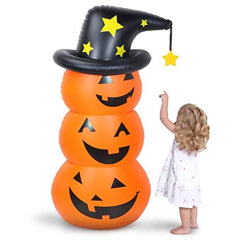 TWSOUL Halloween Deko Aufblasbarer Kürbis,Halloween Dekoration Grusel Set Halloween Party Dekoration Luftballons,Halloween Deko Kürbis Accessoires für Halloween Karneval