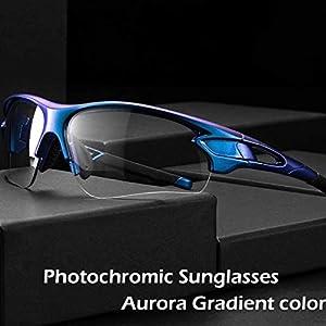 ROCKBROS Gafas Fotocromáticas de Sol para Ciclismo Running UV Protección Inteligentes Transparentes para Hombre y Mujer