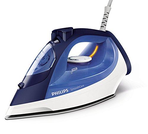 Philips GC3580/20 – Fer à repasser à vapeur, semelle en céramique, 2 m, 160 g/min, bleu, blanc, 40 g/min