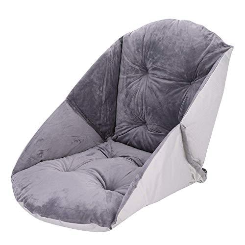 FMOGQ Cojín en forma de concha, cojín de felpa suave con respaldo cojines de apoyo de silla grueso y cómodo asiento para oficina en el hogar-B