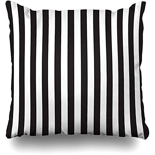 Throw Pillow Case 45x45 cm Black Pattern White Stripes Backdrop Striped Element Modern Graphic Texture Line Textures Paper Cushion Cover
