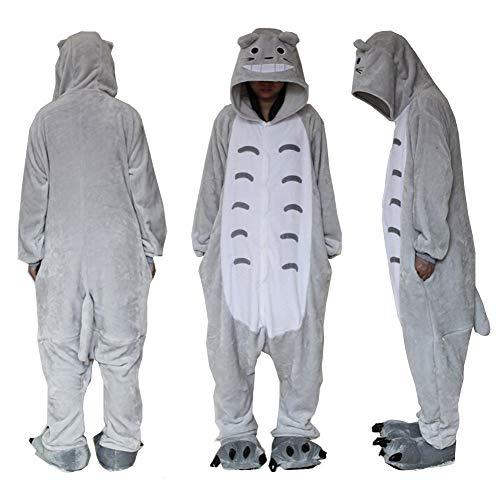 Extérieur en polaire Dessus Totoro Combinaison Unisexe Cosplay Costume à capuche/pyjama/veille...