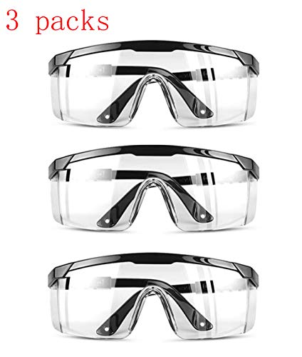 Awaqi 3 Packs Premium Anti Fog Protective Glasses Safety Glasses Perfect Eye Protection for Workplace Safety Protective Goggles