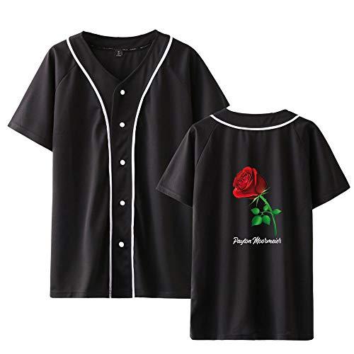 Landove Payton Moormeier T-Shirt V Hals Korte Mouw Unisex Zomer met Knop