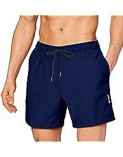 Zwembroek heren zwemshorts heren sportbroek korte shorts badmode boardshorts sneldrogend korte broek zwembroek vrijetijdsbroek met trekkoord zwemmen surfen watersport reizen zomer blauw