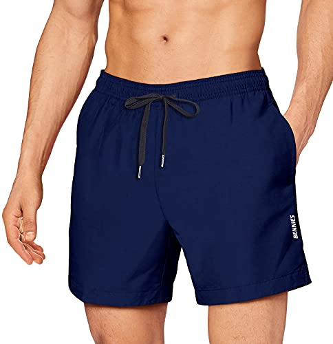 BENNIES Bañador Hombre Corto Shorts de Baño para Hombre Bañador Natacion Bañadores Hombre Traje de Baño Pantalones Corto Quick-Dry Swim Short para Secado para Vacaciones Ancla Surf