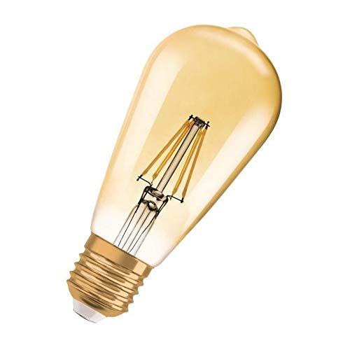 Osram LED Vintage Edition 1906 Lampe, in Edison Form mit E27-Sockel, nicht dimmbar,  2.8Watt, Klar, Warmweiß - 2400 Kelvin, 1er-Pack