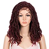"""Style Icon 15.5""""Short Faux Locs Wig with Baby Hair Synthetic Dreadlock Wig Natural Looking Handmade Braid Twist Wigs for Black Women (15.5 Inches, T4/118)"""
