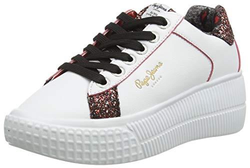 Pepe Jeans London Damen Neal Edge Sneaker, 800WHITE, 37 EU