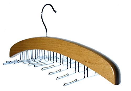 Hagspiel, 1 fermacravatta in legno di faggio, laccato, per 24 cravatte