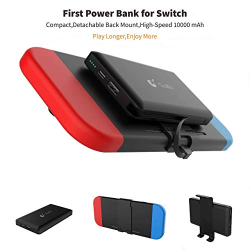 Portable Power Bank for Nintendo Switch - 10000mAh Rechargeable Extended Battery Charger Case -...