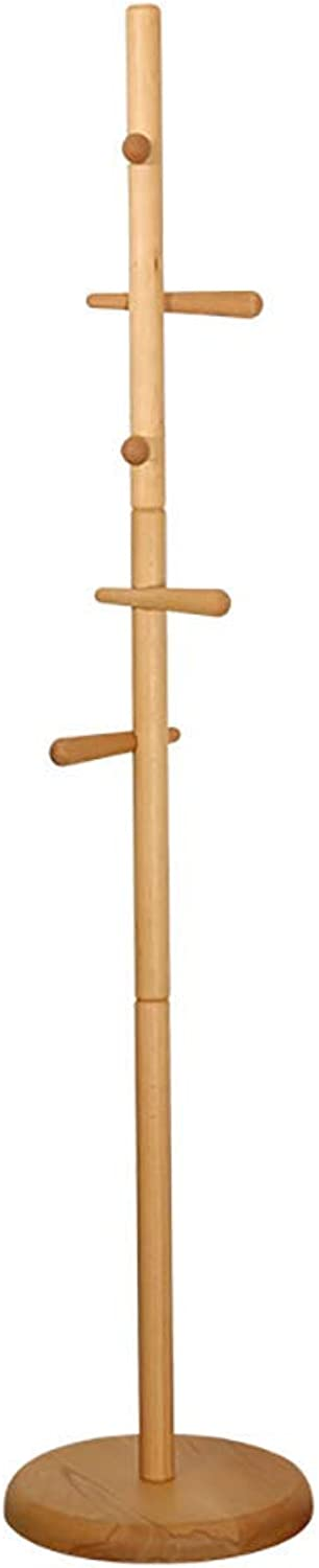 Barture Coat Rack Simple Solid Wood Floor Bedroom Hanger Modern Minimalist Door Rack H69.29 Inches (color   Wood color)