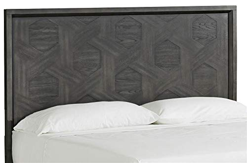Magnussen Furniture Proximity Heights Headboard in Smoke Anthracite Finish (King: 79.25 in. W x 2 in. D x 62 in. H)
