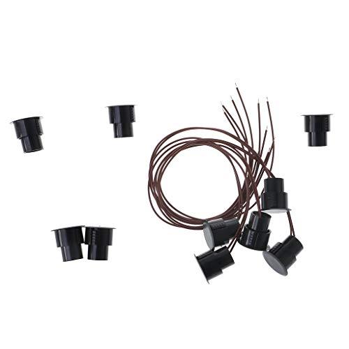 Hemobllo 6 PCS Interruttori di finecorsa interruttori a pulsante momentanei impermeabili 2 microinterruttori a leva lunga