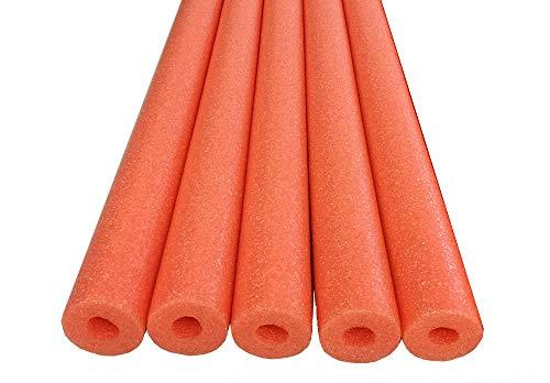 Oodles of Noodles Foam Pool Swim Noodles, 52 inch (5 Pack) - Orange