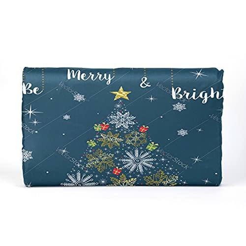 Almohada para niños pequeños con funda de almohada, 17 x 10 pulgadas, suave memoria de látex, almohadas para bebés para dormir, Navidad, oro, copo de nieve, árbol, tarjeta de felicitación, vector, la