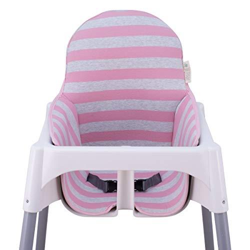 JANABEBE Colchoneta para trona antilop Ikea (Pink Island)