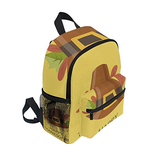 FANTAZIO rugzak basisschool Gelukkig Thanksgiving Hoed Bookbag