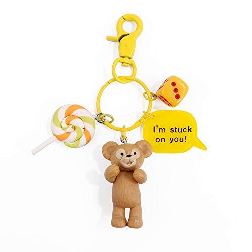 Schlüsselanhänger Lollipop Stardew Daffy Kaninchen Schlüsselanhänger Miniatur Bär Schlüsselanhänger Beliebte Niedliche Cartoon-Puppe Student Anhänger Schlüsselanhänger Schlüsselring (Farbe: 3)