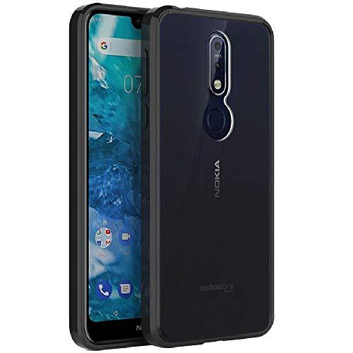 Capa para Nokia 7.1 da Finon, modelo de corpo perfeito [amortecedores de poliuretano termoplástico/capa para Nokia 7 (2018), Preto
