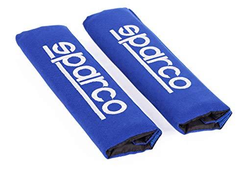 SPARCO SPC1204BL Sicherheitsgurt Gurt Protektor Auto, 2 Einheiten, Blau, Set of 2