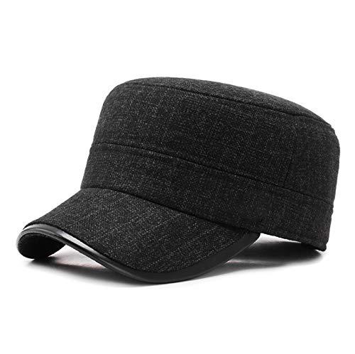 Más Gruesa Sombrero Caliente Militares Sombreros para los Hombres Gorras de Plato...