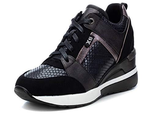 XTI Damen 44654 Sneaker, Schwarz, 37 EU