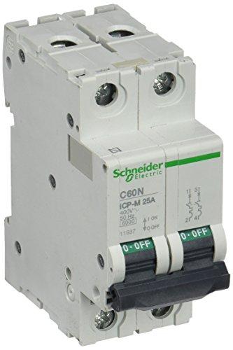 Schneider Electric 11937 Interruptor Automático Magnetotérmico 2P, 25A, 6Ka, 400 V