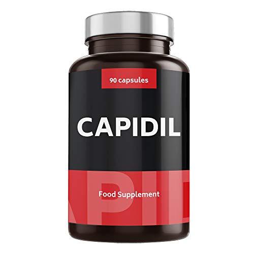 CAPIDIL Crecimiento y Fortalecimiento del Cabello - Fórmula Fortificante Anticaída con Biotina, Zinc, Cobre y Vitaminas - Suplemento Capilar para Prevenir la Caída del Pelo - 90 cápsulas