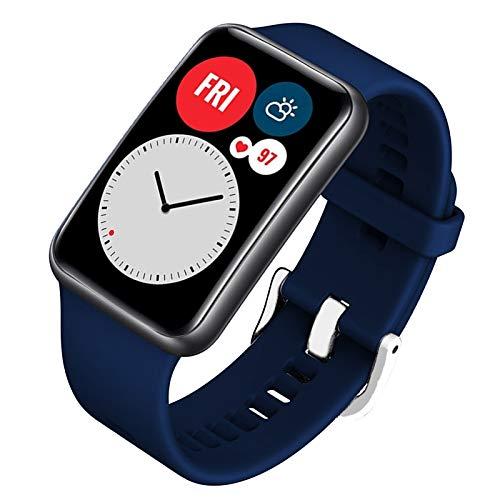FunBand Correa Compatible para Huawei Watch Fit, Silicona Correas de Correa de Repuesto Suave Pulseras Deportiva Ajustable Reemplazo Accesorios para Huawei Watch Fit Smartwatch