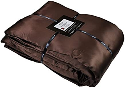 Natural Comfort Imperial Silk Inside and Out Throw-Filling,  Chocolate