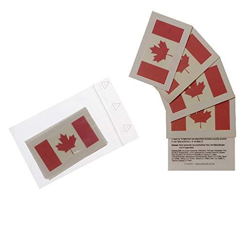 10 x Kanada Tattoo Fan Fahnen Set - Canada temporary tattoo Flag (10)