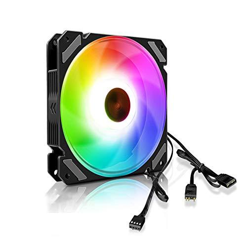 Ventilador de levitación magnética de alta presión de bajo ruido, enfriador de CPU ARGB de 120 mm, 4 pines para computadora