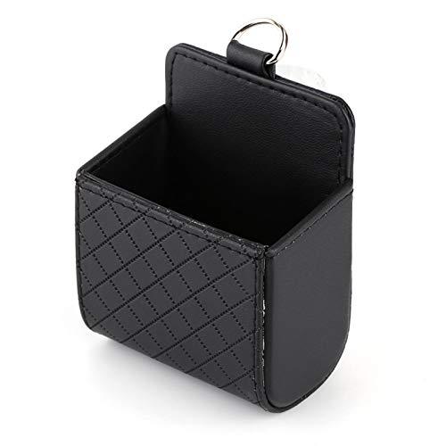 Lazmin112 Bolsa de Almacenamiento para automóvil Organizador de Salida de ventilación de Aire para automóvil Fácil de Instalar Despegue con Gancho Caja de teléfono Soporte para Caja Bolsillo Negro