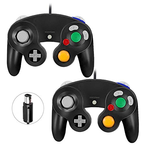 Gamecube Controllers,GALGO Classic Gamecube wii Controller for Nintendo Gamecube Console, Compatible with Wii (Black and Black)