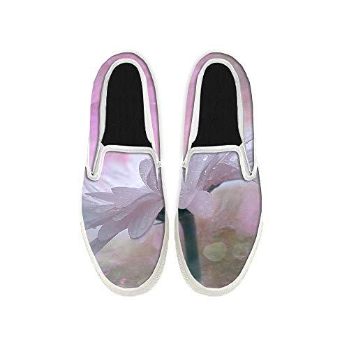 Mocasines planos para mujer y hombre, unisex, color rosa, color Blanco, talla 37 EU
