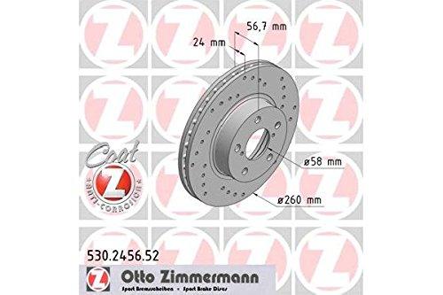 ZIMMERMANN Bremsscheiben , SPORT-BREMSSCHEIBE COAT Z, 530.2456.52 (2 Stück)