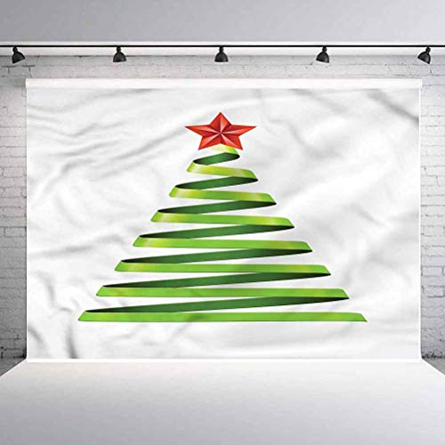 7x7FT Vinyl Wall Photography Backdrop,Christmas,Ribbon Tree New Year Background for Baby Shower Bridal Wedding Studio Photography Pictures