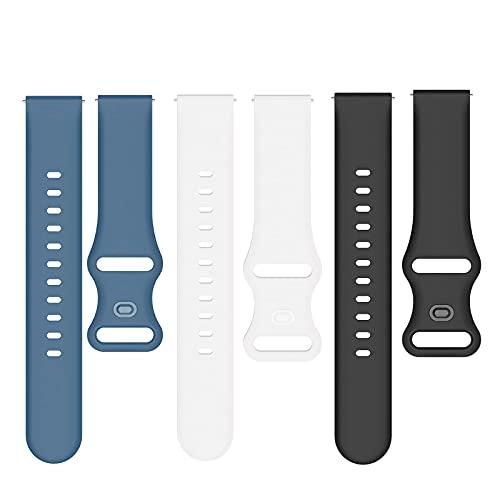 SkyBand Moda Silicona Clásico Correas Compatible para Smartwatch SUUNTO 9 Peak (3 Pack-B)