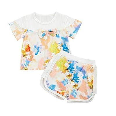 Amazon Promo Code Girl Newborn Baby Ruffle Sleeveless Romper Floral Shorts 01072021072557