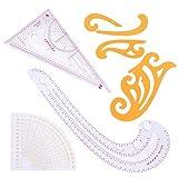 XIGAWAY 7 unids/set Tailor Comma Cloud Regla Medida costura Dressmaking Yardstick Dibujo